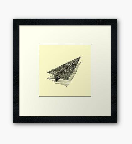 Paper Airplane 13 Framed Print