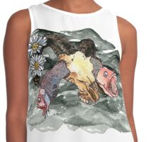 Oh how picturesque a ram skull Contrast Tank