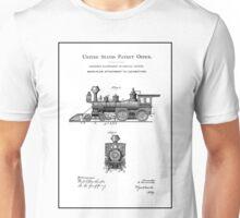 TRAINS LOCOMOTIVES; Vintage Patent Print Unisex T-Shirt