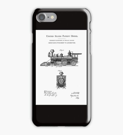 TRAINS LOCOMOTIVES; Vintage Patent Print iPhone Case/Skin