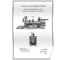 TRAINS LOCOMOTIVES; Vintage Patent Print Poster