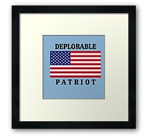 Deplorable Patriot Design Framed Print