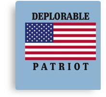 Deplorable Patriot Design Canvas Print