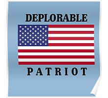 Deplorable Patriot Design Poster