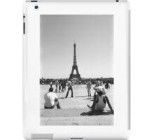 Eiffel Tower. Paris. Guys Playing ® iPad Case/Skin