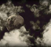 Perigee Moon at Dusk by Anthony Superina
