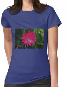 Large Orchid Cactus flower... Womens Fitted T-Shirt
