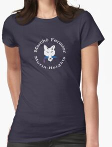 Marché Fermier Morin-Heights Coyote on dark Womens Fitted T-Shirt