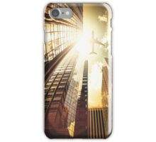 airplane in new york city iPhone Case/Skin