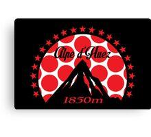 Alpe d'Huez (Red Polka Dot) Canvas Print