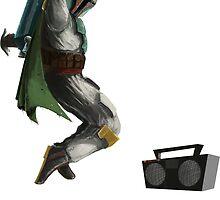 boba fett Breakdance by Phoran