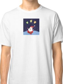 Santa claus with christmas presents. Cute christmas Santa in red costume Classic T-Shirt