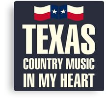 Texas country music Canvas Print