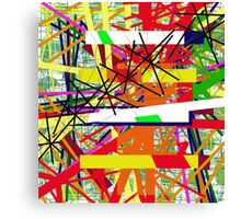 Colorful abstraction by Moma Canvas Print