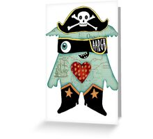 Pirate Monster Greeting Card