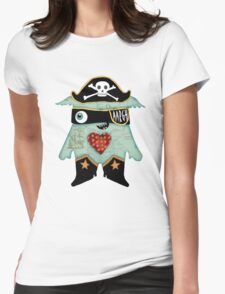 Pirate Monster Womens Fitted T-Shirt