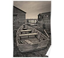 Old Wooden Boat Toned Poster