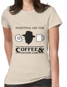 Stranger Things : Coffee & Contemplation Womens Fitted T-Shirt