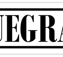 Bluegrass (black) Sticker