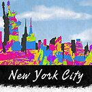 New York City, New York Skyline by FamilyT-Shirts