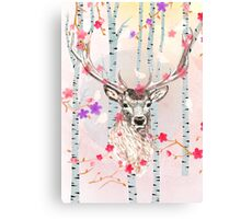 The deer in the forest Canvas Print