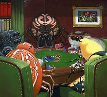 Spiders Playing Poker by sonyaandrews