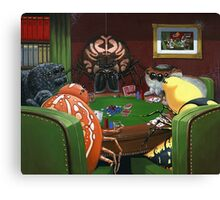 Spiders Playing Poker Canvas Print