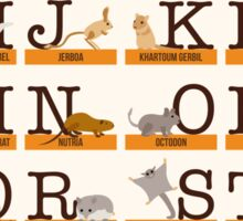 Rodents Alphabet Sticker