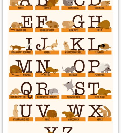 Rodents Alphabet Sticker