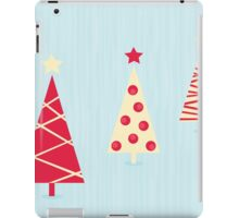 Vintage red christmas trees pattern. Modern christmas trees pattern iPad Case/Skin