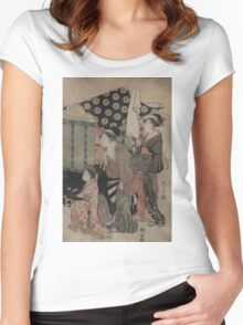 Imperial carriage - Chokosai Eisho - 1794 Women's Fitted Scoop T-Shirt
