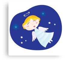 Christmas angel boy. Cute christmas angel symbol of love and christianity Canvas Print