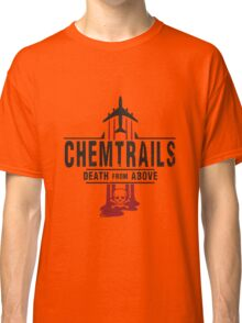 Jet Chemtrails Red & Grey Logo Classic T-Shirt