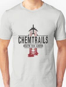 Jet Chemtrails Red & Grey Logo T-Shirt