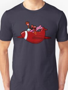 Cartoon Red Airplane Character Unisex T-Shirt