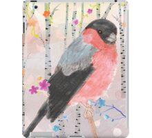 Bullfinch in the forest iPad Case/Skin