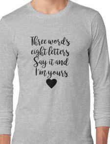 Gossip Girl - Three Words Long Sleeve T-Shirt