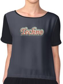Vintage colorful techno Chiffon Top