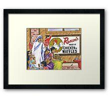 Mother Teresa, Roscoe's Chicken N Waffles, We're #1 Foam Finger Framed Print
