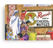 Mother Teresa, Roscoe's Chicken N Waffles, We're #1 Foam Finger Canvas Print