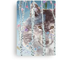 The wolf in the forest Canvas Print