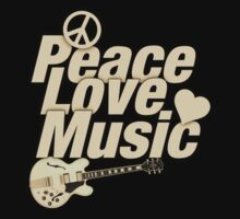 Peace Love Music Kids Tee