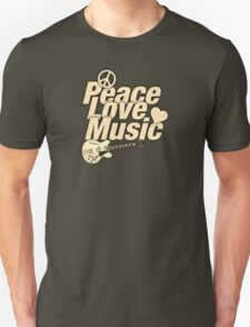 Peace Love Music Unisex T-Shirt
