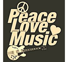 Peace Love Music Photographic Print