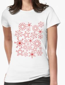 Christmas snowflakes Womens Fitted T-Shirt