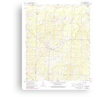 USGS TOPO Map Arkansas AR Mount Holly 259141 1962 24000 Canvas Print
