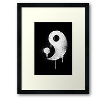 Graffiti Zen Master - Spray paint yin yang Framed Print