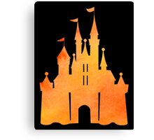 Halloween Watercolor Castle Canvas Print