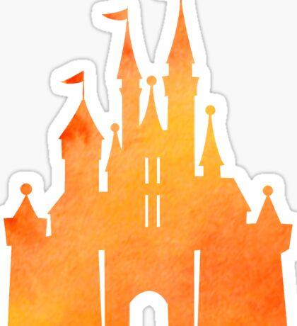 Halloween Watercolor Castle Sticker