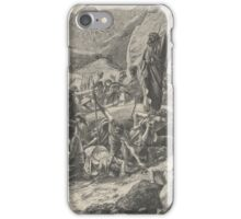 Moses Strikes the Rock (Dalziels' Bible Gallery), Edward John Poynter iPhone Case/Skin